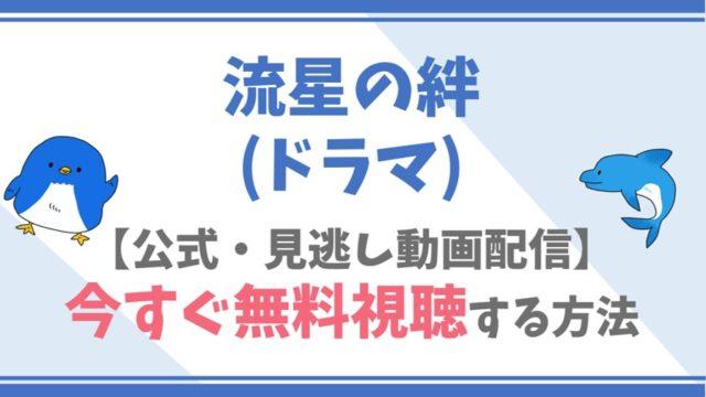 【公式無料動画】流星の絆(ドラマ)を全話フル配信を視聴する方法!二宮和也・錦戸亮キャスト情報/あらすじも!