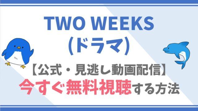 【公式無料動画】TWO WEEKS(ドラマ)を全話フル配信を視聴する方法!三浦春馬・比嘉愛未らキャスト情報/あらすじも!