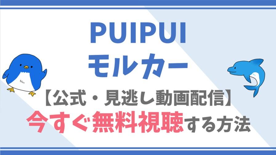 【公式無料見逃し】PUIPUIモルカーの動画で全話フル視聴する方法!衝撃の声優/あらすじも!