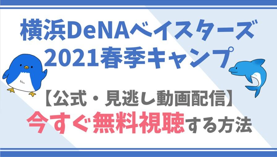 【公式見逃し動画】横浜DeNAベイスターズ2021春季キャンプを無料でフル視聴する方法!選手情報/も!