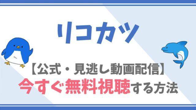 【公式見逃し動画】リコカツを無料で全話フル視聴する方法!北川景子・永山瑛太らキャスト情報/あらすじも!